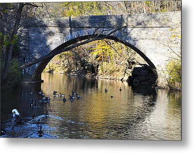 Valley Green Bridge Metal Print by Bill Cannon