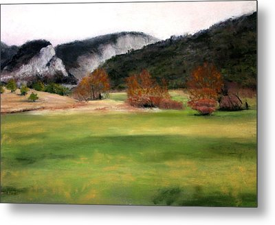 Valley Landscape Early Fall Metal Print by Cindy Plutnicki