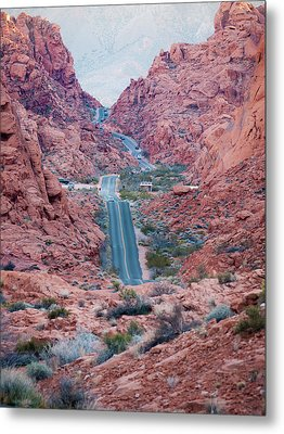 Valley Of Fire Drive Metal Print by Rae Tucker
