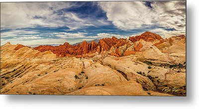 Valley Of Fire Panorama Metal Print by Rikk Flohr