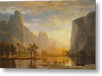 Valley Of The Yosemite, 1864 Metal Print by Albert Bierstadt
