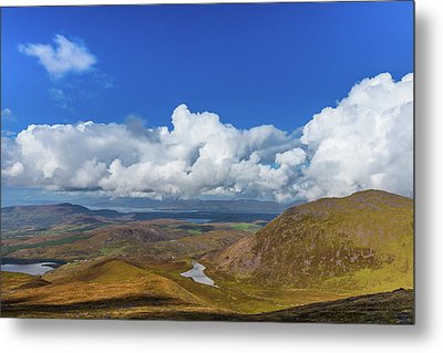 Valleys And Mountains In County Kerry On A Summer Day Metal Print by Semmick Photo
