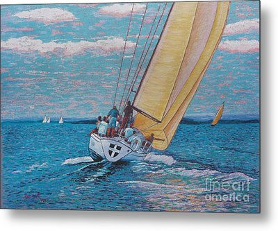 Valour -chester Race Week Metal Print by Rae  Smith