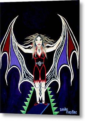 Vampire Lady Of Death Metal Print by Deidre Firestone