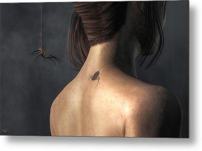 Metal Print featuring the digital art Vampire Spider by Daniel Eskridge