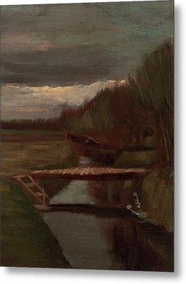 Van Gogh Ditch And Small Bridge Metal Print by Vincent Van Gogh