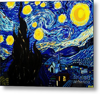 Van Gogh Starry Night  Metal Print