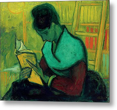 Van Gogh The Novel Reader Metal Print by Vincent Van Gogh