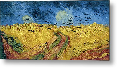 Van Gogh Wheatfield With Crows Metal Print by Vincent Van Gogh