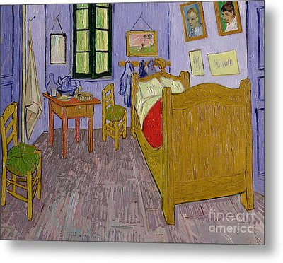 Van Goghs Bedroom At Arles Metal Print by Vincent Van Gogh