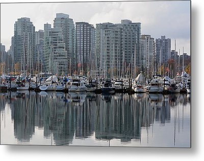 Vancouver Bc - Boats And Condos Metal Print