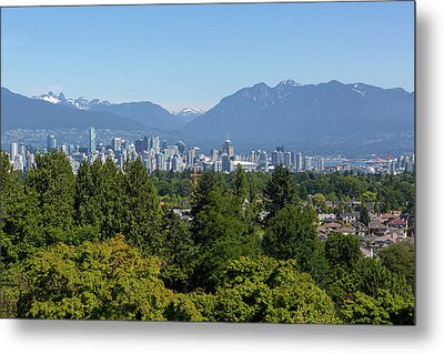Vancouver Bc City Skyline From Queen Elizabeth Park Metal Print by David Gn