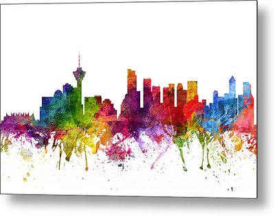 Vancouver Canada Cityscape 06 Metal Print by Aged Pixel