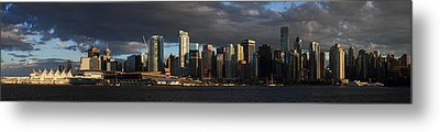 Vancouver City Sunset Panorama From Stanley Park Metal Print by Pierre Leclerc Photography