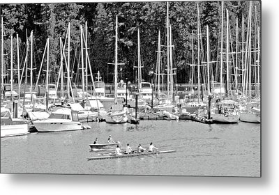 Vancouver Marina No. 1-1 Metal Print by Sandy Taylor