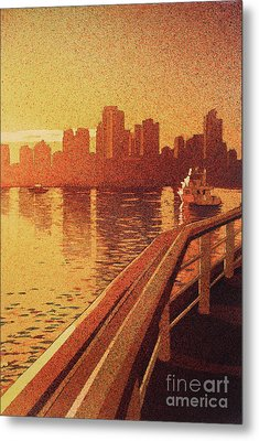 Metal Print featuring the painting Vancouver Morning- Bc by Ryan Fox