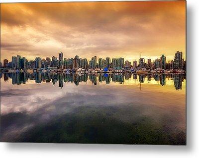 Vancouver Reflections Metal Print by Eti Reid