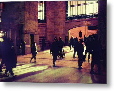 Metal Print featuring the photograph Grand Central Rush by Jessica Jenney