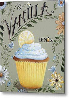 Vanilla Lemon Cupcake Metal Print by Catherine Holman