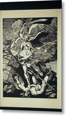 Vanquishing The Devil Metal Print