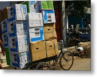Varanasi. The Computer Age Metal Print