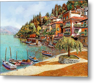 Varenna On Lake Como Metal Print by Guido Borelli