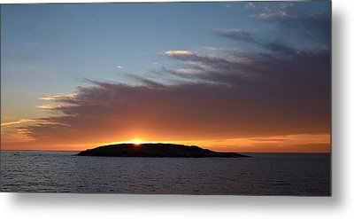 Metal Print featuring the photograph Variations Of Sunsets At Gulf Of Bothnia 1 by Jouko Lehto