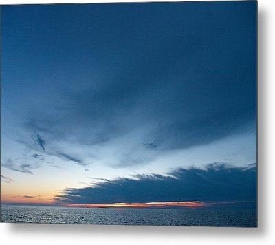 Metal Print featuring the photograph Variations Of Sunsets At Gulf Of Bothnia 4 by Jouko Lehto
