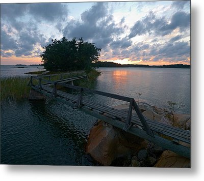 Metal Print featuring the photograph Variations Of Sunsets At Gulf Of Bothnia 6 by Jouko Lehto