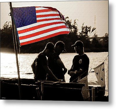 Variations On Old Glory No.3 Metal Print by John Pagliuca