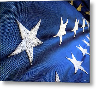 Variations On Old Glory No.5 Metal Print by John Pagliuca