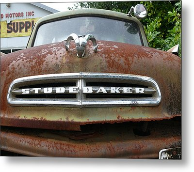Metal Print featuring the photograph Variegated Studebaker by Joel Deutsch