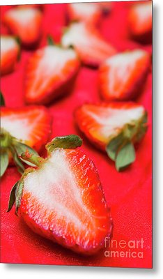 Various Sliced Strawberries Close Up Metal Print by Jorgo Photography - Wall Art Gallery