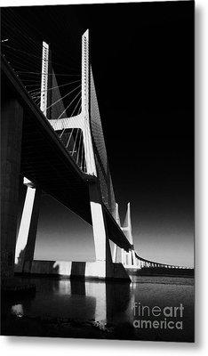 Vasco Da Gama Bridge Lisbon 4 Metal Print by Rudi Prott