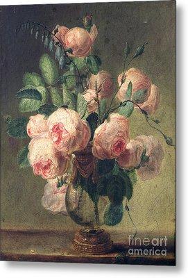 Vase Of Flowers Metal Print by Pierre Joseph Redoute
