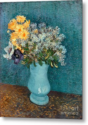 Vase Of Flowers Metal Print by Vincent Van Gogh