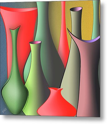 Vases Still Life Metal Print by Ben and Raisa Gertsberg