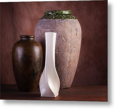 Vases With A Twist Metal Print by Tom Mc Nemar