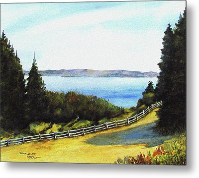 Metal Print featuring the painting Vashon Island by Marti Green
