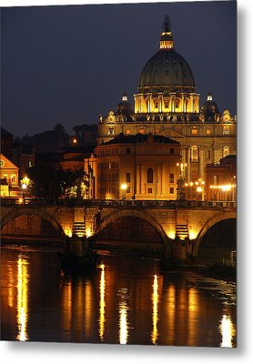 Vatican At Night Metal Print by Don Wolf