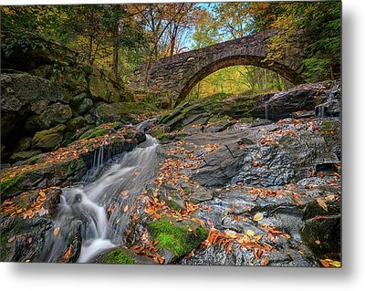 Vaughan Brook And Arch Bridge Metal Print