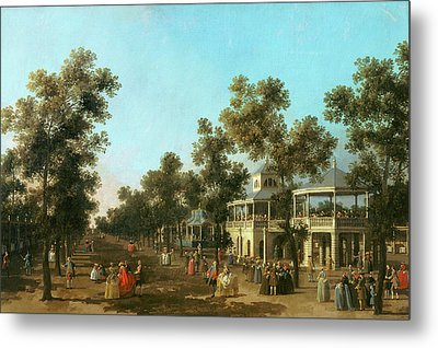 Vauxhall Gardens The Grand Walk Metal Print by Canaletto