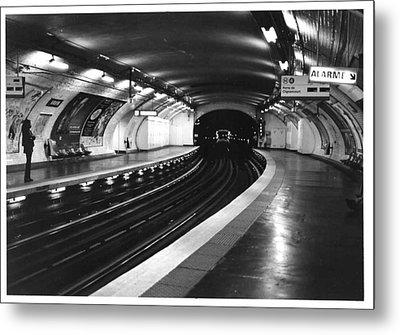 Vavin Station Paris Metro Metal Print by Gordon Lukesh