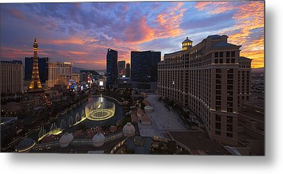 Vegas By Night Metal Print