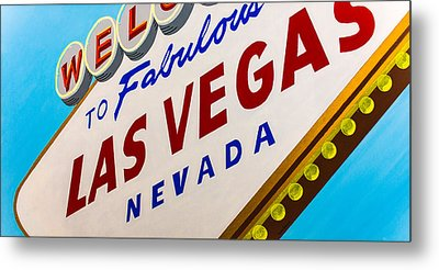 Vegas Tribute Metal Print by Slade Roberts