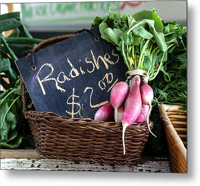 Vegetables Radishes Metal Print