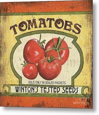 Veggie Seed Pack 3 Metal Print by Debbie DeWitt