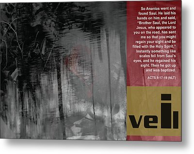 Veil A Metal Print by Affini Woodley