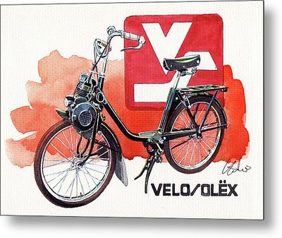 Velo Solex Metal Print by Yoshiharu Miyakawa