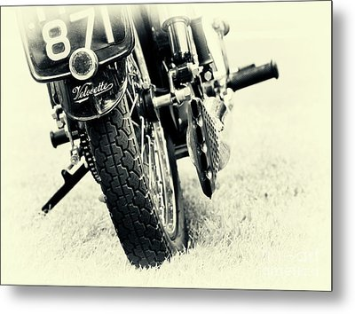 Velocette Abstract Metal Print by Tim Gainey